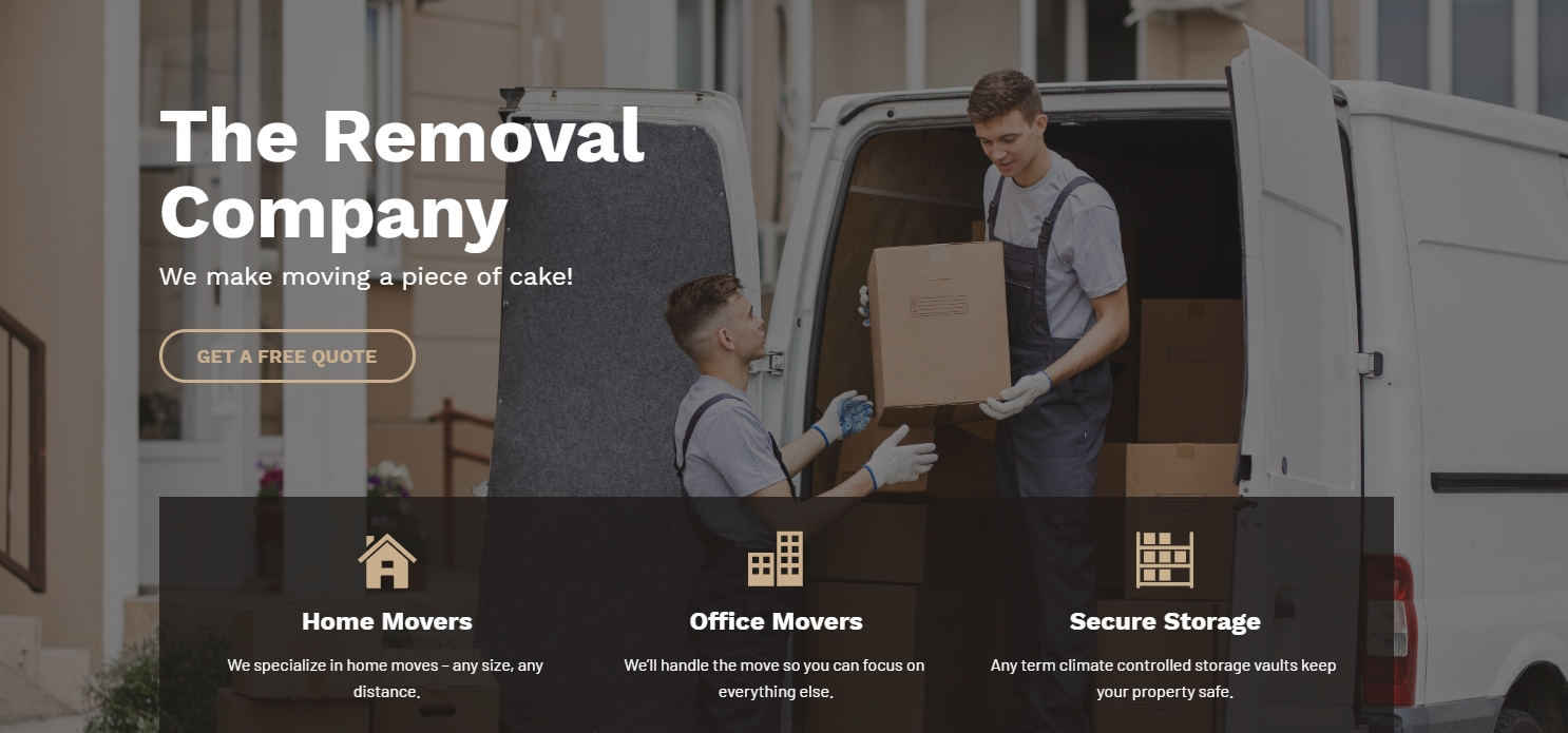 Sitebeat Template Sample with Monochromatic Hues